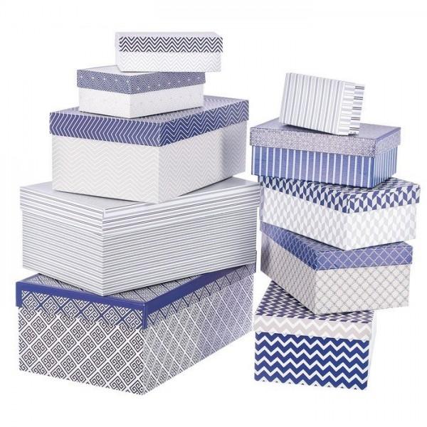 """Набор коробок из 10 штук """"Орнамент"""""""